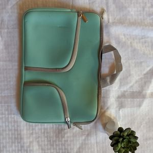Teal and Gray Laptop Bag